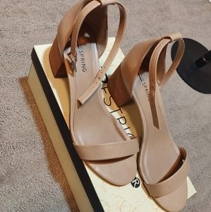 Call It Spring Ankle Strap Block Heel Sandals